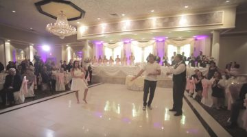 Newlywed's first dance gets kicked up a notch when Dad cuts in