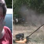 Elderly woman facing jail for tall grass is moved to tears when four boys mow lawn for free
