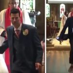 Groom suddenly runs away from the altar, when the crowd sees why they can't stop laughing