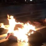 Trump protester sets himself on fire outside of Trump hotel