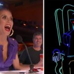 Glowing dancer sits on a dark stage, judges freak out when 8 more pop-up behind him
