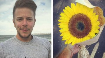 Man gives a sunflower to a crying woman, but what she says next changes his entire life