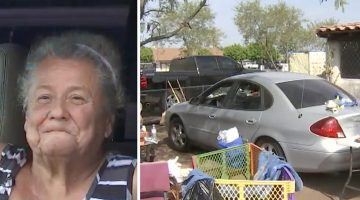 Elderly woman lives in her car in front of her home, then neighbors learn the shocking reason why