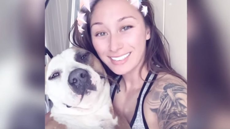Woman escapes wildfire on bicycle with 70 lb dog on her back