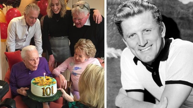 Kirk Douglas just turned 101-years-old, Michael Douglas shares photos from their special day together