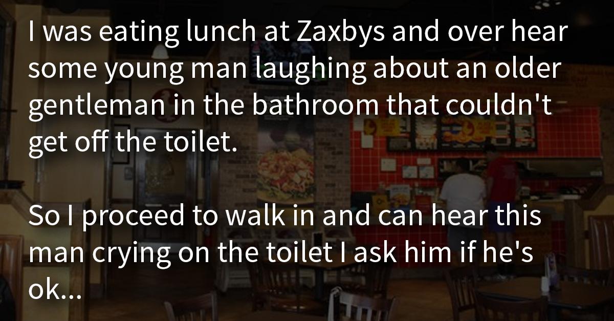 How To Unlock A Door >> Man finds elderly veteran crying in the bathroom and hears ...